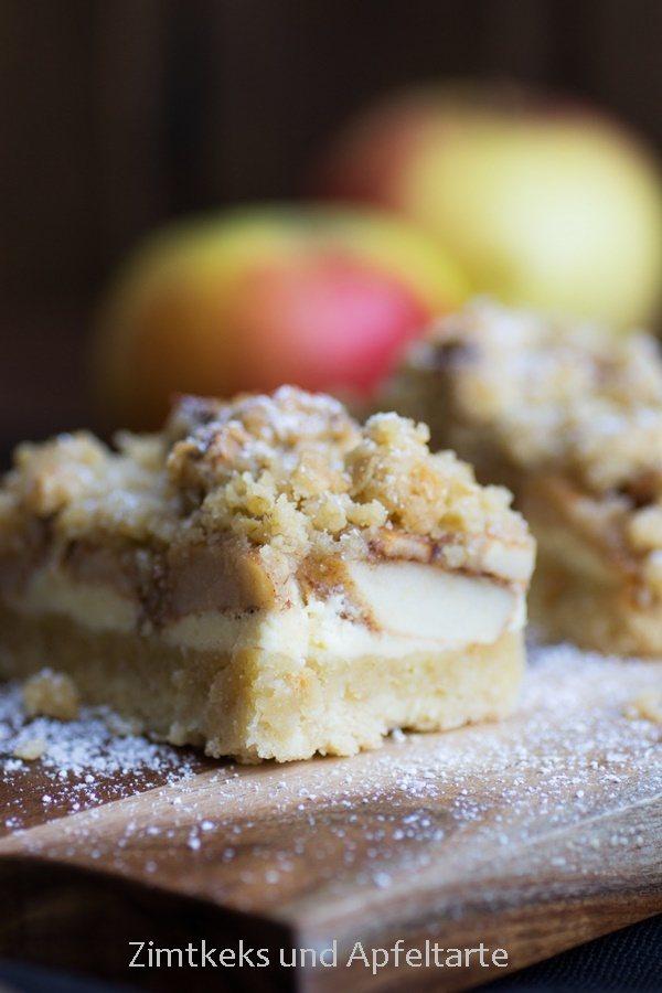 Rezept Apfel-Cheesecake mit Walnuss-Streuseln und Karamell