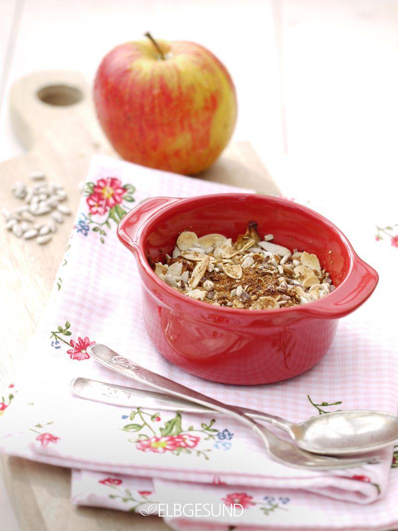 Rezept Apfel-Crumble mal ganz anders – mit gesunden Streuseln!!