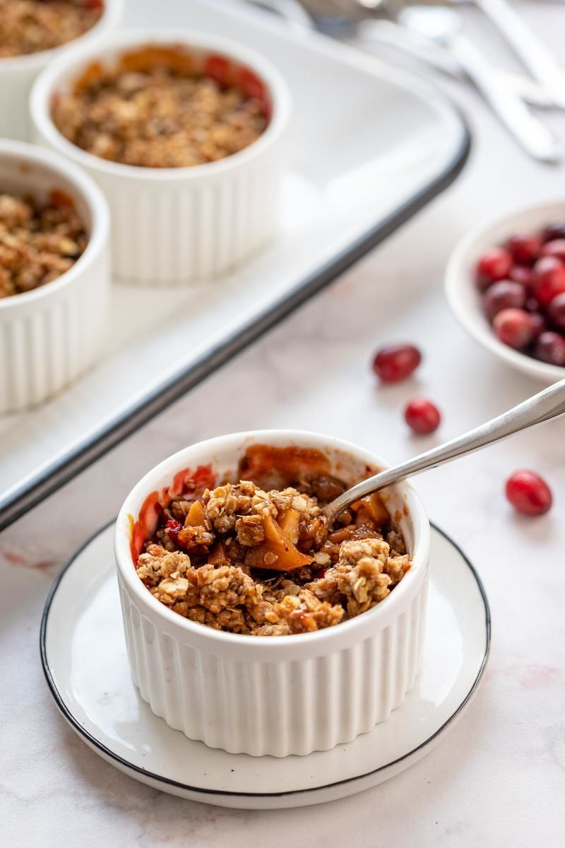 Rezept Apfel-Crumble mit Cranberries