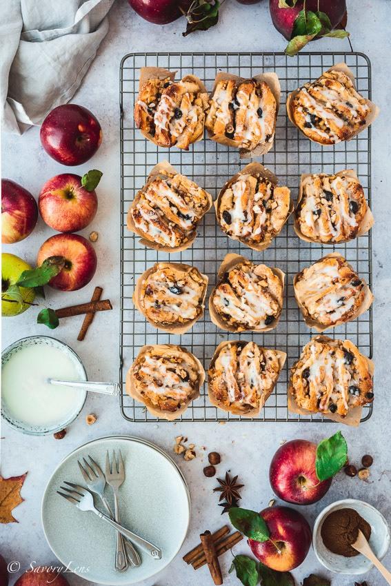 Rezept Apfel-Haselnuss-Pull-Apart-Muffins
