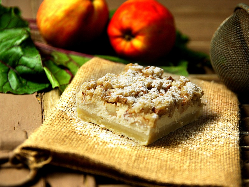Rezept Apfel-Käsekuchen Schnitte