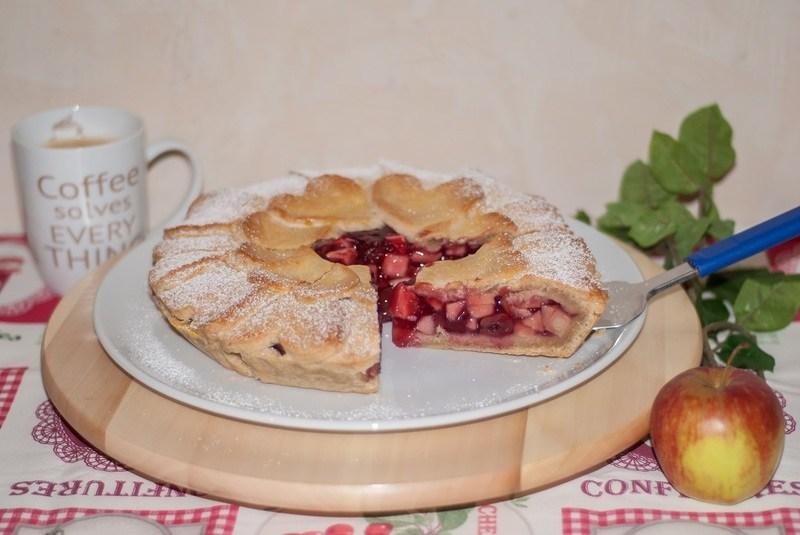 Rezept Apfel Kirsch Kuchen