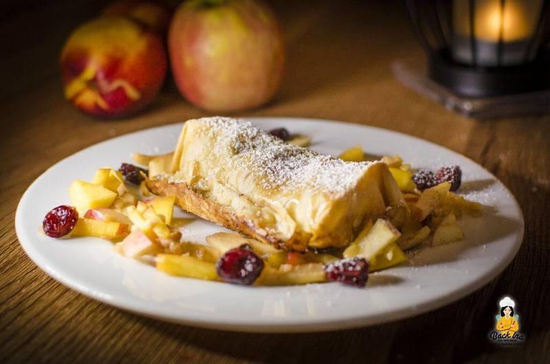 Rezept Apfel-Marzipan Strudel mit Cranberries