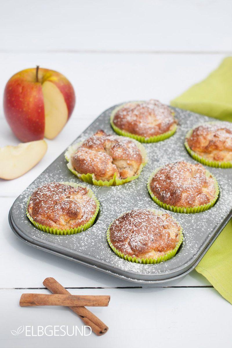 Rezept Apfel-Muffins für die schlanke Linie!