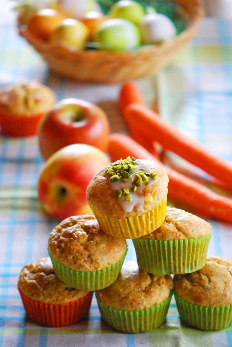 Rezept Apfel-Rübli-Muffins