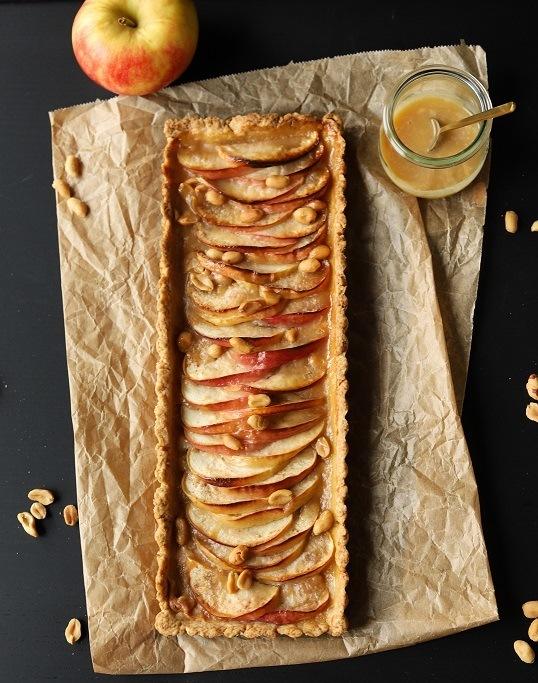 Rezept Apfel-Salzkaramell-Tarte mit Erdnüssen