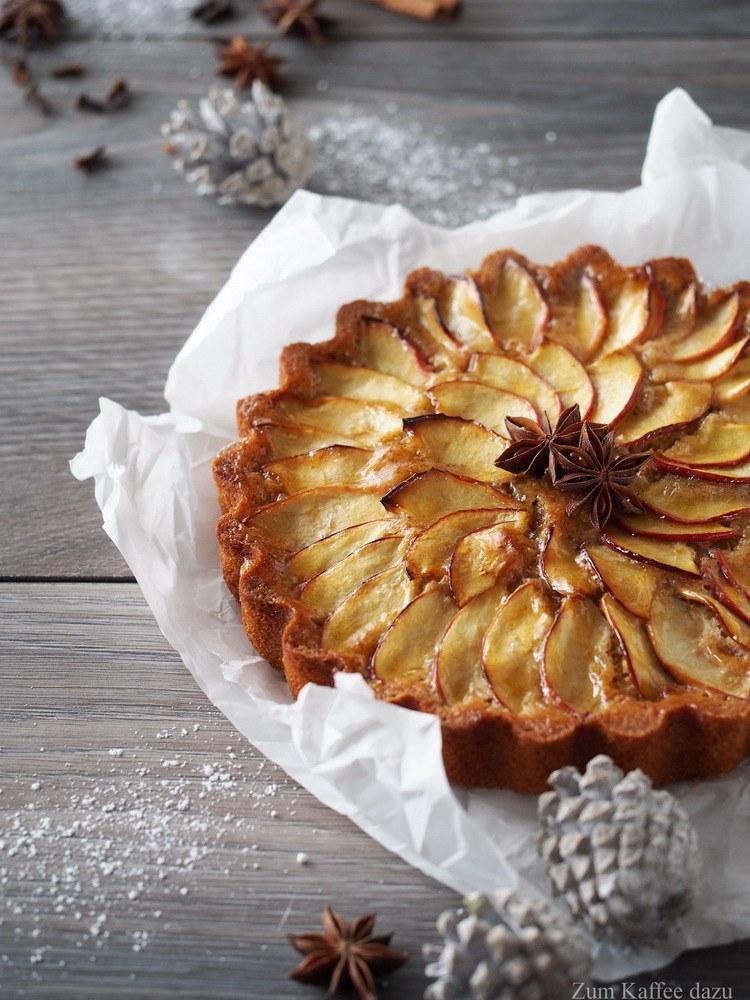Rezept Apfel-Tarte mit Lebkuchengewürz