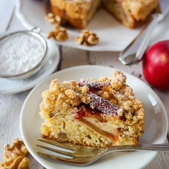 Rezept Apfel-Walnuss-Crumble-Kuchen