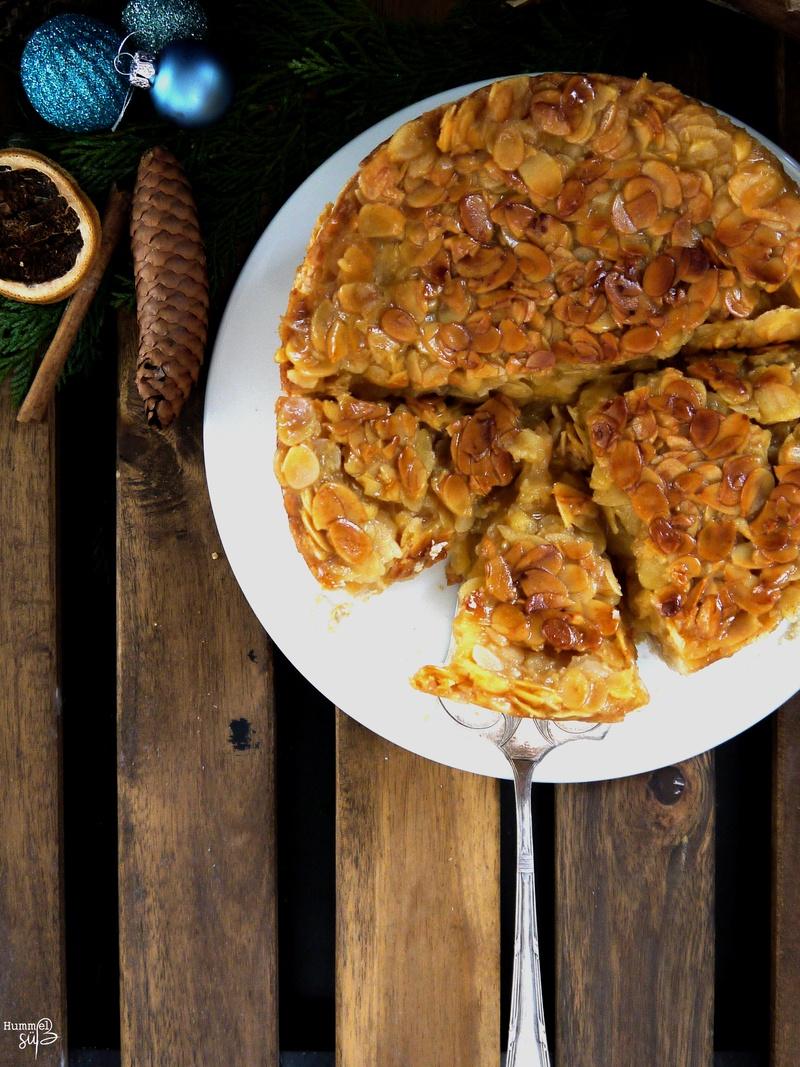 Rezept Apfel-Zimt-Bienenstich Torte: glutenfrei und vegan