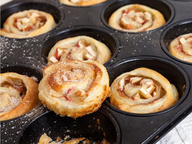 Rezept Apfel-Zimtschnecken aus der Muffinform