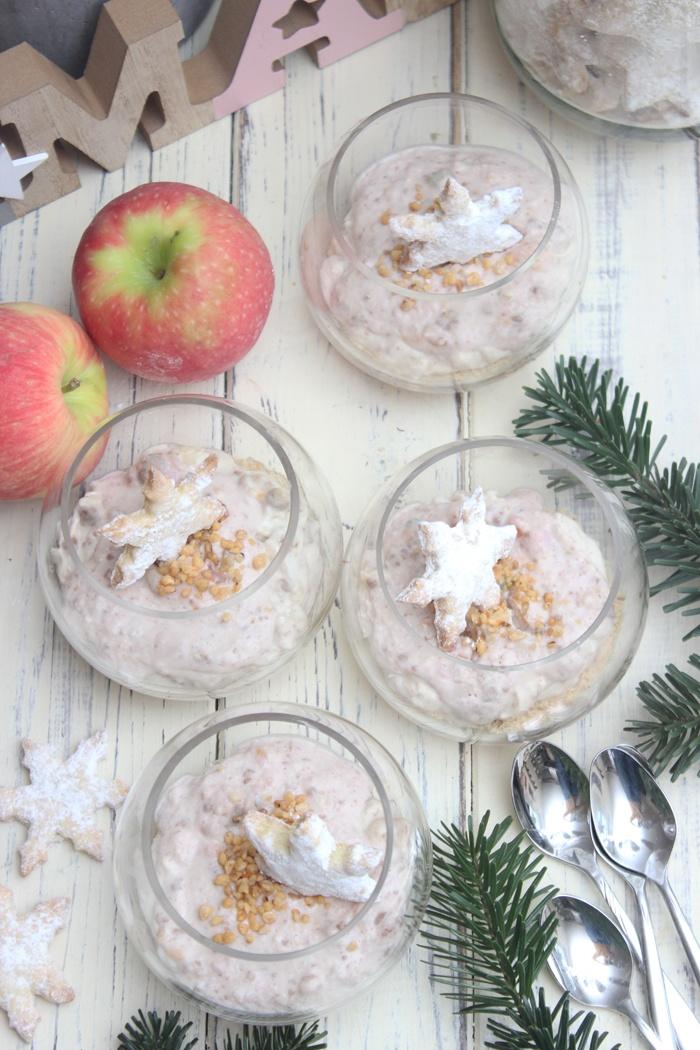 Rezept Apfelknusper Dessert im Glas – Winterlicher Traum in 15 Minuten