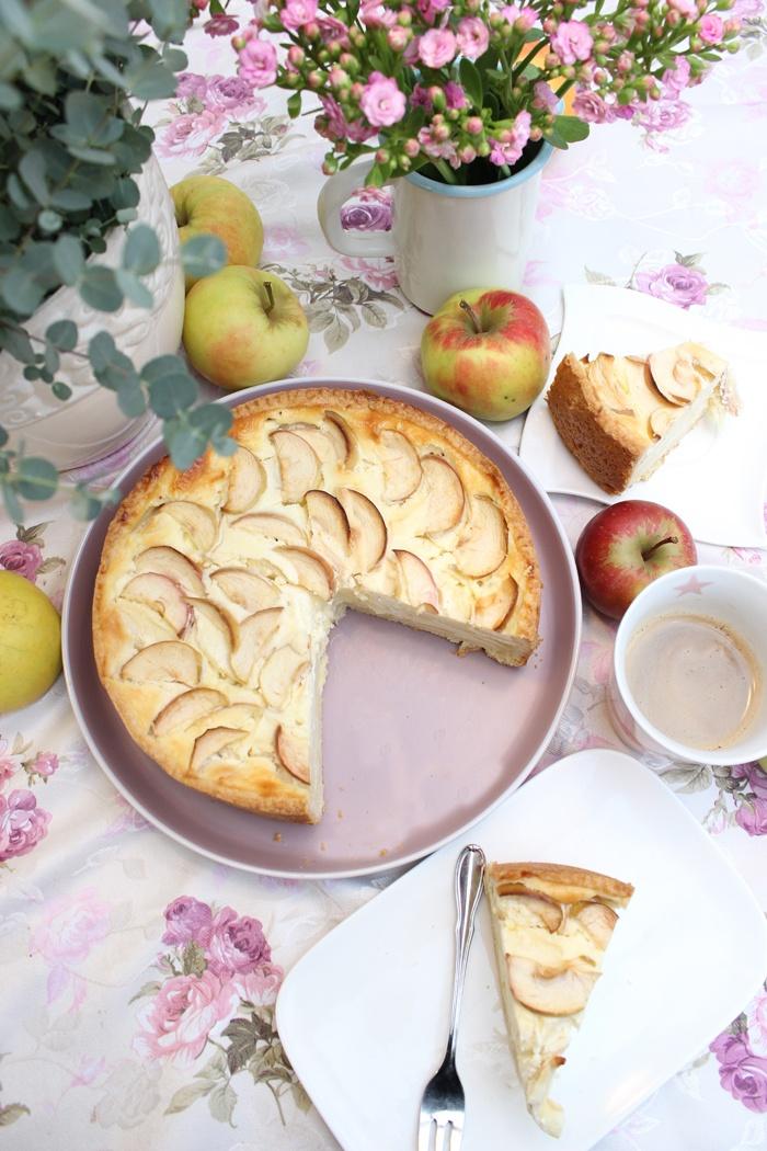Rezept Apfelkuchen mit einer Schmand-Sahne-Creme Rezept