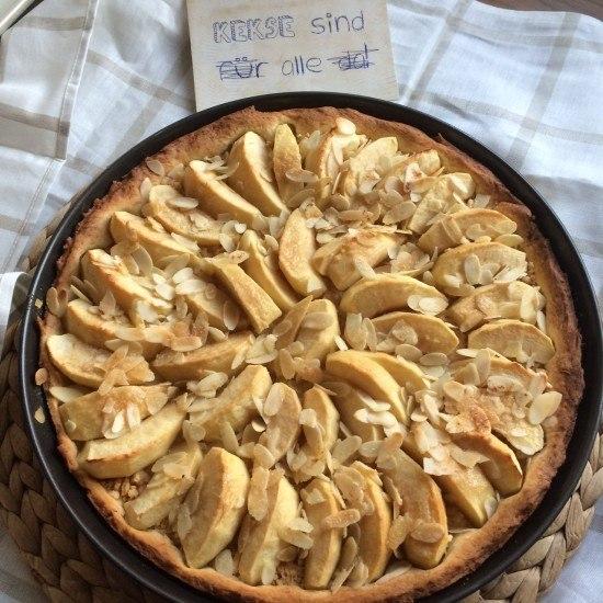 Rezept Apfelkuchen mit Hefe-Mürbeteig