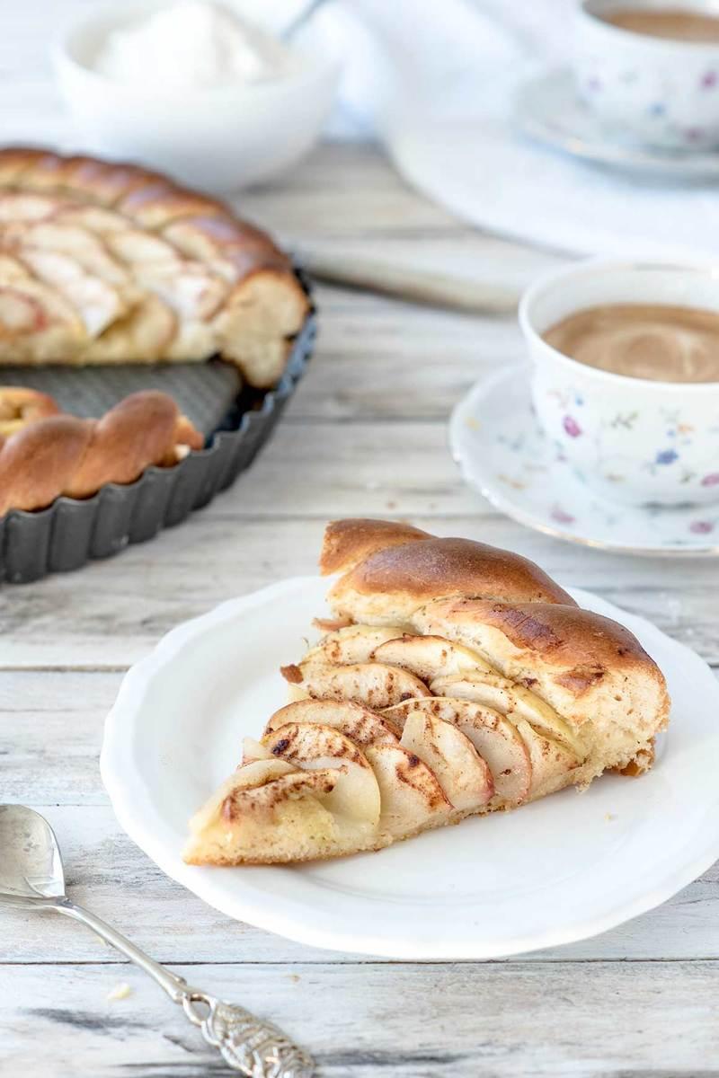Rezept Apfelkuchen mit Hefeteig (vegan)