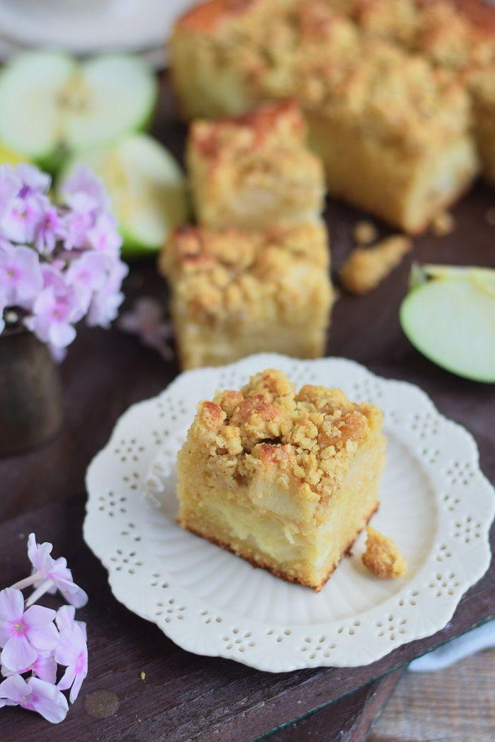 Rezept Apfelkuchen mit Pudding und Streuseln
