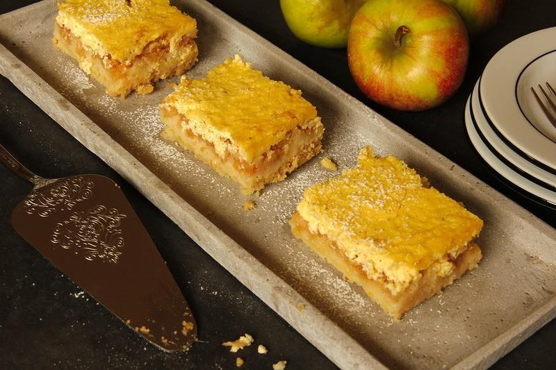 Rezept Apfelkuchen mit Topfenstreusel