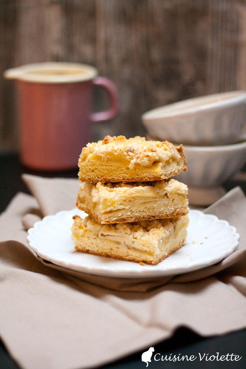 Rezept Apfelkuchen mit Zwillingsteig