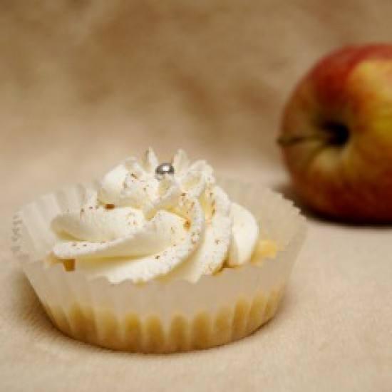 Rezept Apfelmuffins mit Sahnetopping