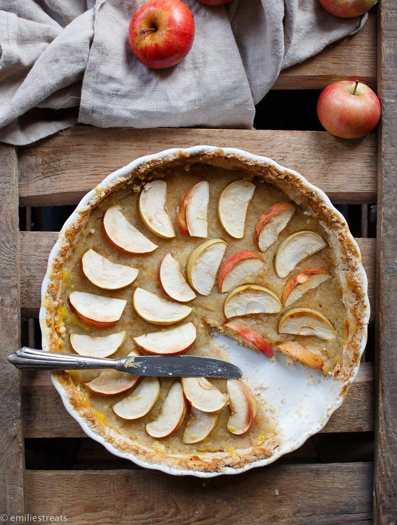 Rezept Apfelmus-Apfel-Tarte mit feinem Mürbeteigboden (glutenfrei)