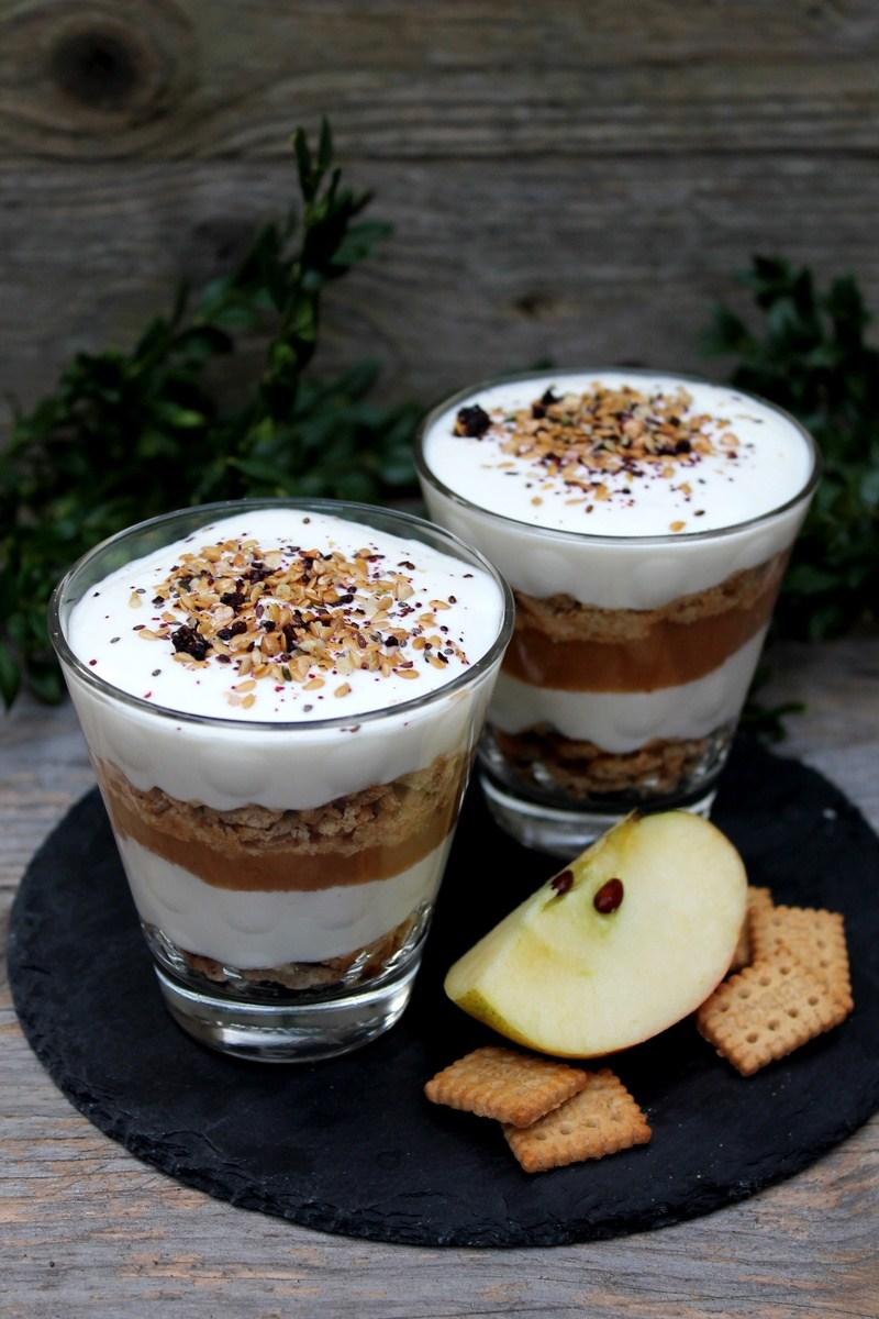 Rezept Apfelmus-Joghurt-Schichtdessert