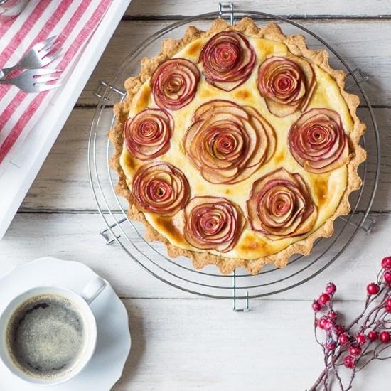 Rezept Apfelrosen-Kuchen