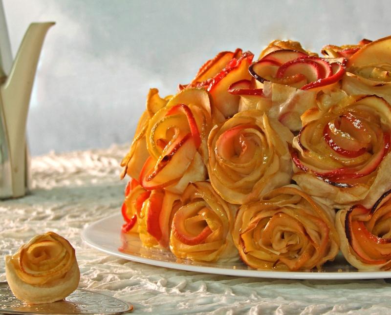 Rezept Apfelrosen-Quitten Torte