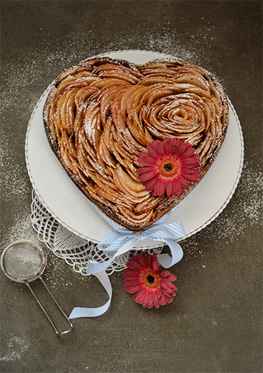 Rezept Apfelrosenherz (Gastbeitrag)