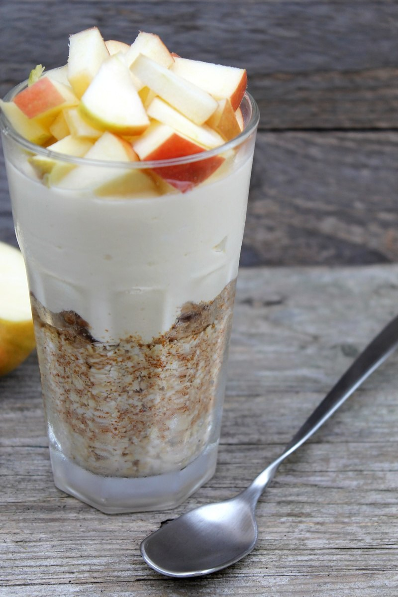 Rezept Apple Cheesecake Overnight Oats