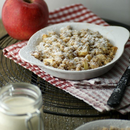 Rezept Apple-Crumble mit Cantuccini-Streuseln