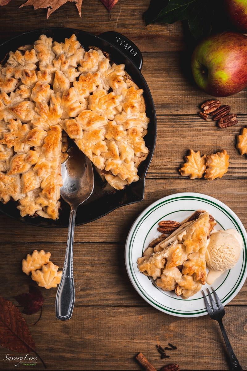 Rezept Apple Pandowdy mit Pekannüssen und Butterscotch