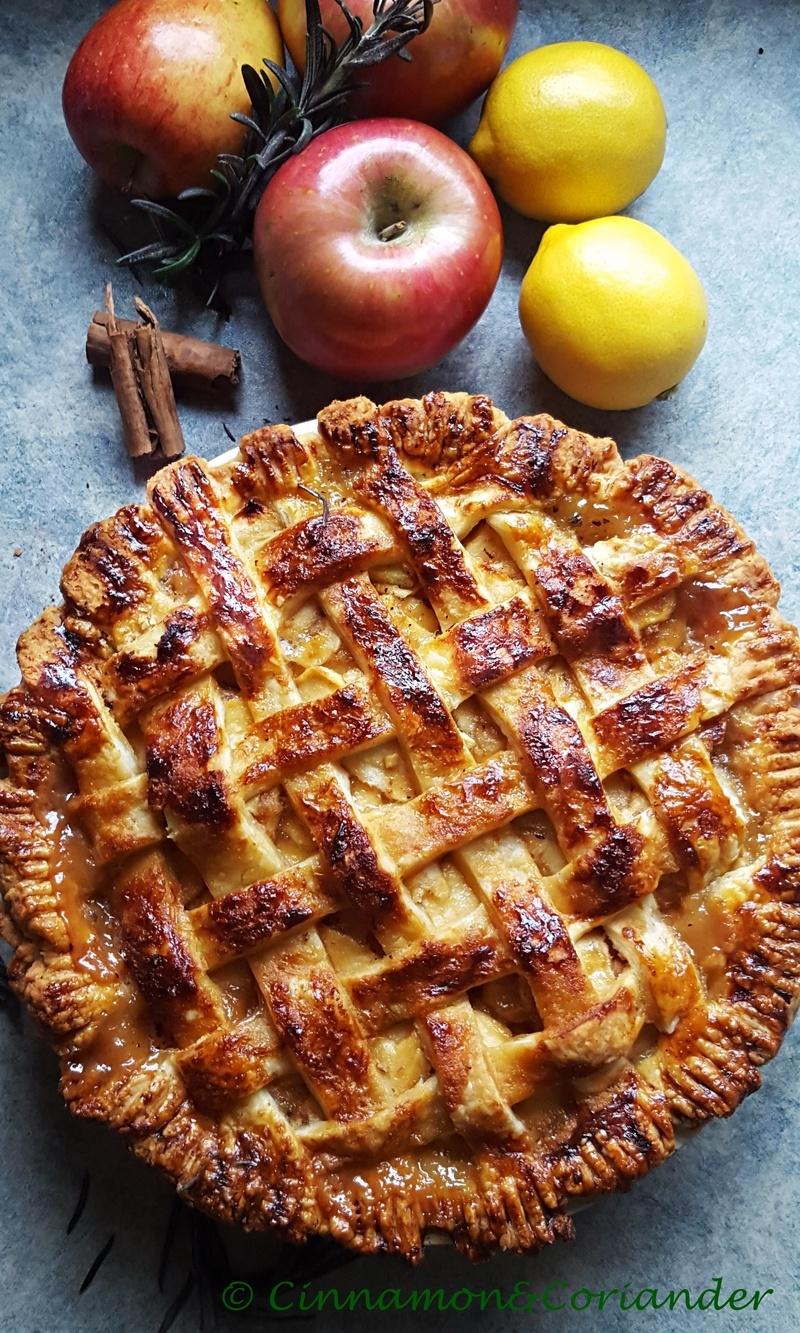 Rezept Apple Pie mit gesalzenem Rosmarin Karamell
