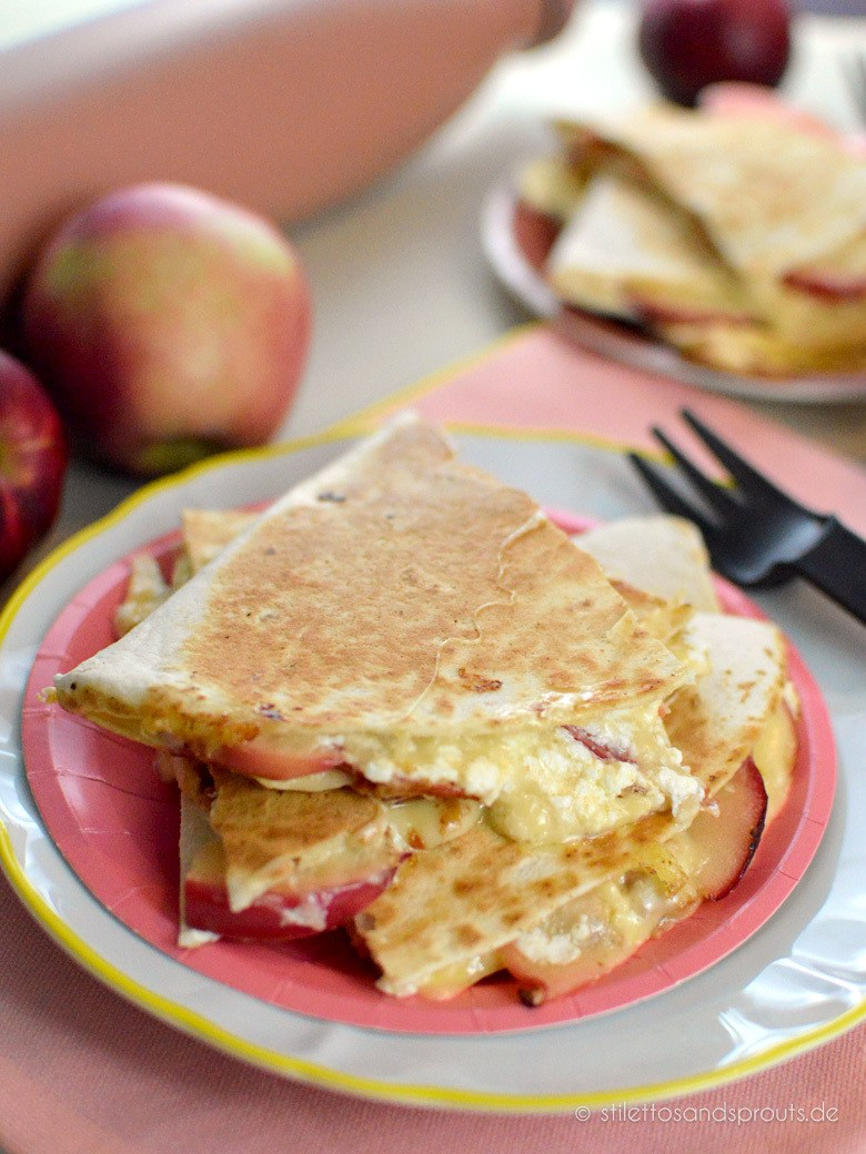 Rezept Apple Quesadillas mit Gouda und Bacon