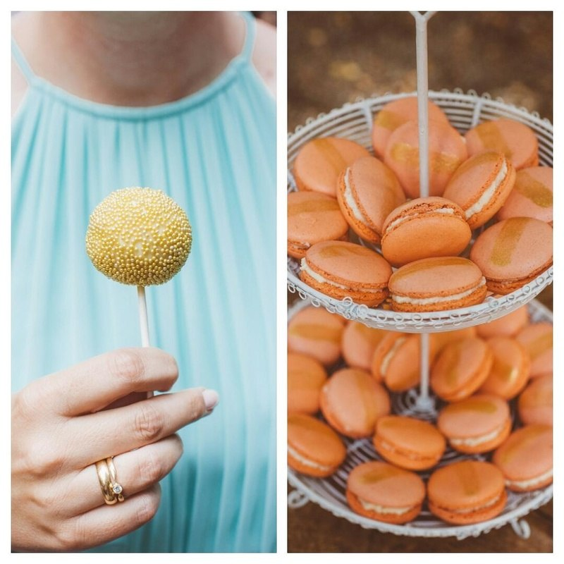 Rezept Apricot Macarons und Golden Pops