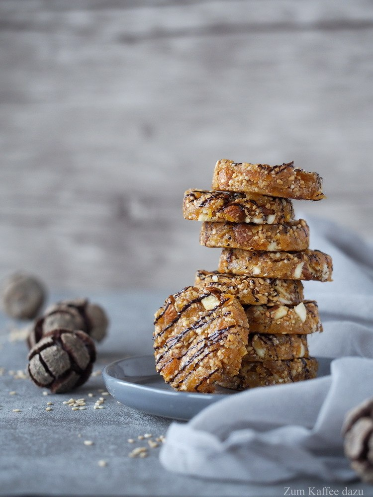 Rezept Aprikosen-Cookies mit geröstetem Sesam