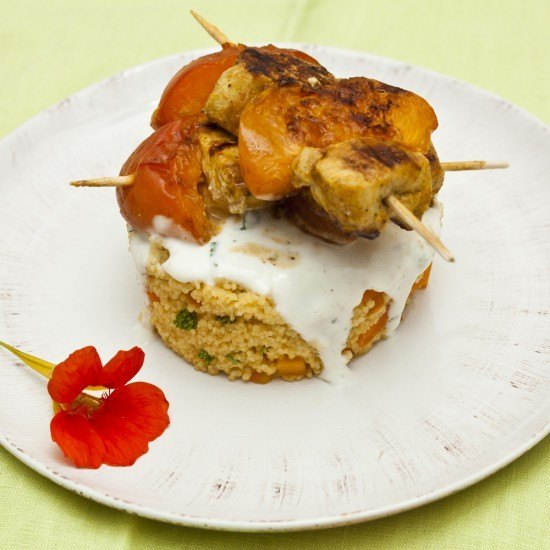 Rezept Aprikosen-Hähnchen-Spieße