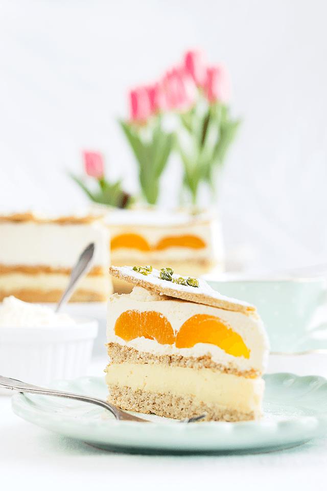 Rezept Aprikosen-Pudding-Sahnetorte