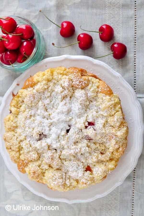 Rezept Aprikosen Streuselkuchen mit Kirschen