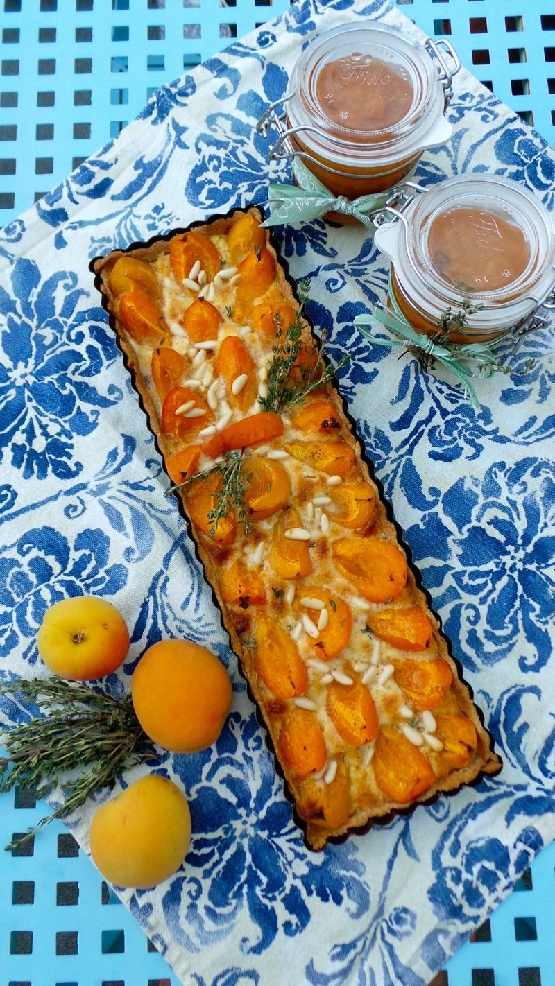 Rezept Aprikosen-Thymian-Tarte mit Pinienkernen