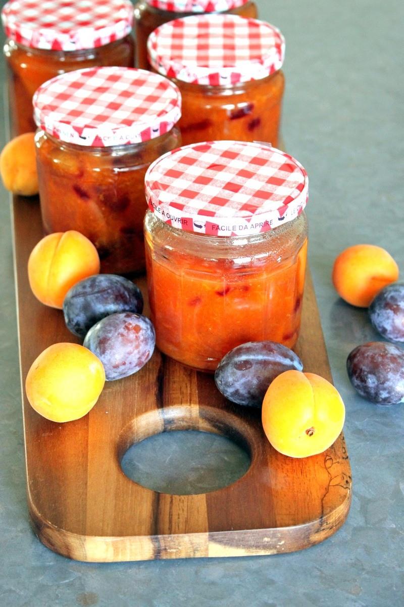 Rezept Aprikosen-Zwetschgen Konfituere mit Vanille