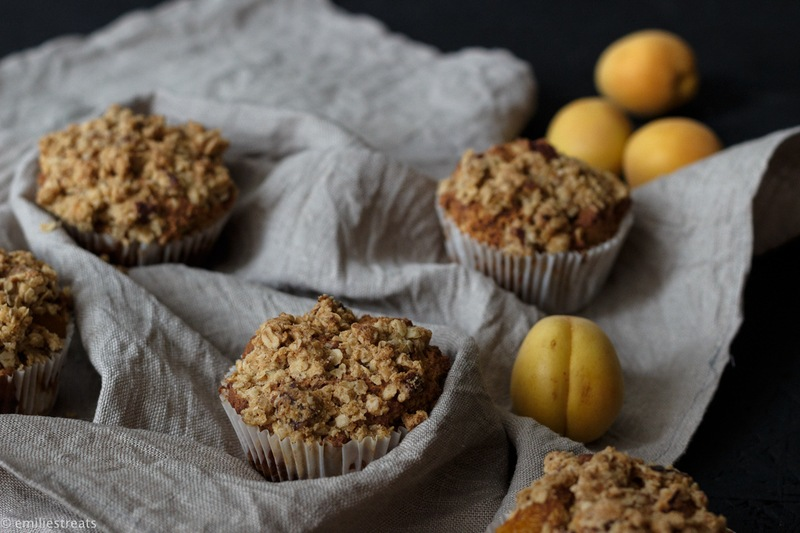 Rezept Aprikosenmuffins mit Kokosmehl und Streuseln