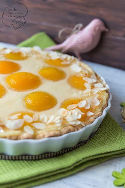 Rezept Aprikosenschmandkuchen in der Tarteform
