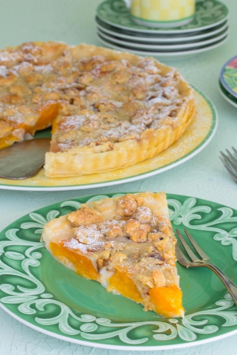 Rezept Aprikosentarte mit Mandelstreuseln (vegan)