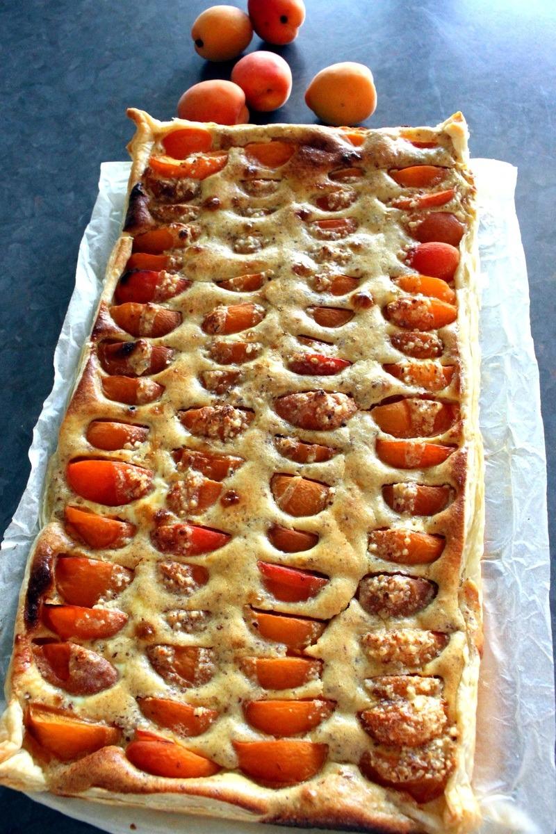 Rezept Aprikosenwaehe mit Mandelguss