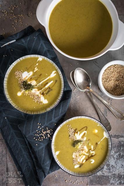 Rezept Asiatische Brokkolisuppe mit Sesam