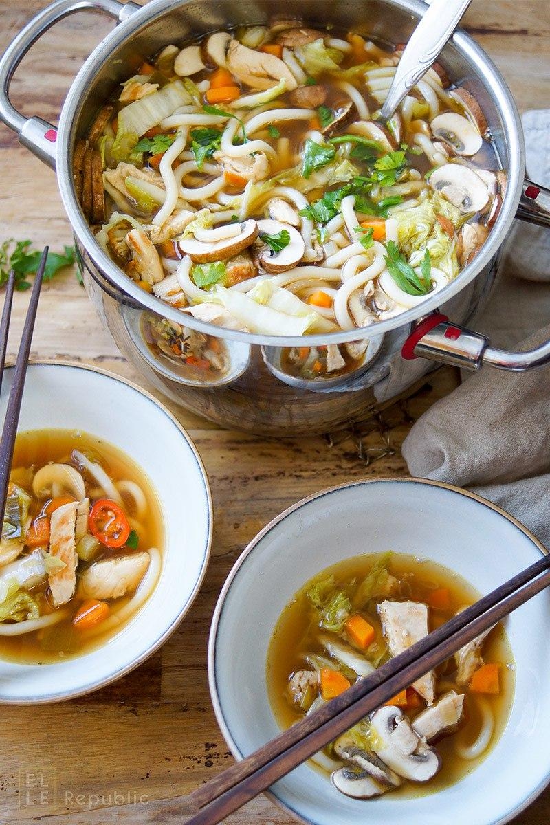 Rezept Asiatische Hühnersuppe mit Nudeln