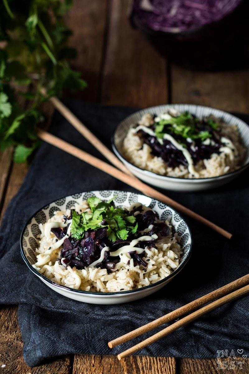 Rezept Asiatische Rotkohlpfanne mit Koriander