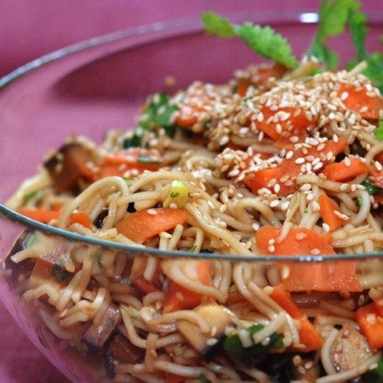 Rezept Asiatischer Nudelsalat mit Tofu