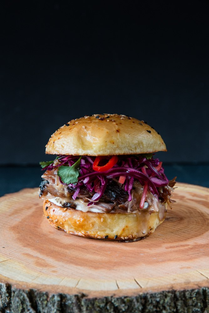 Rezept Asiatischer Pulled Pork Burger Sous Vide 36h