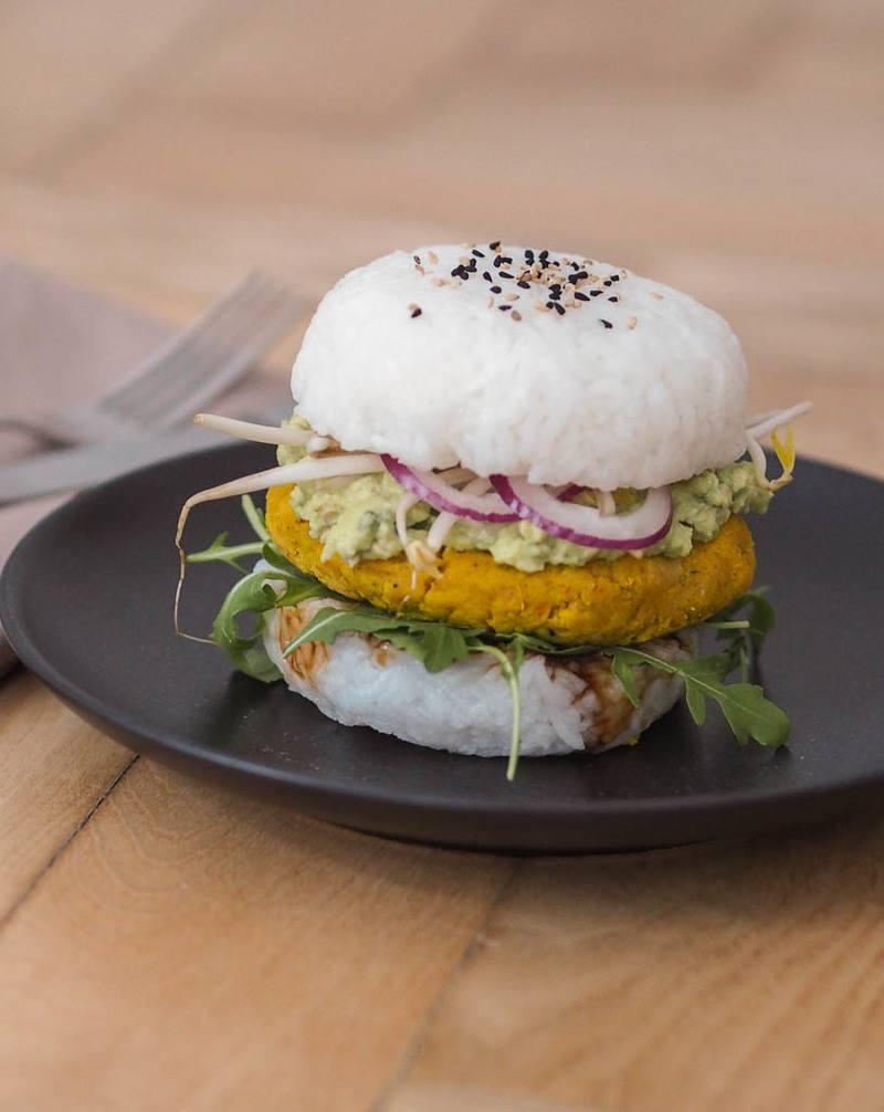 Rezept Asiatischer Reisburger mit Kürbis-Laibchen