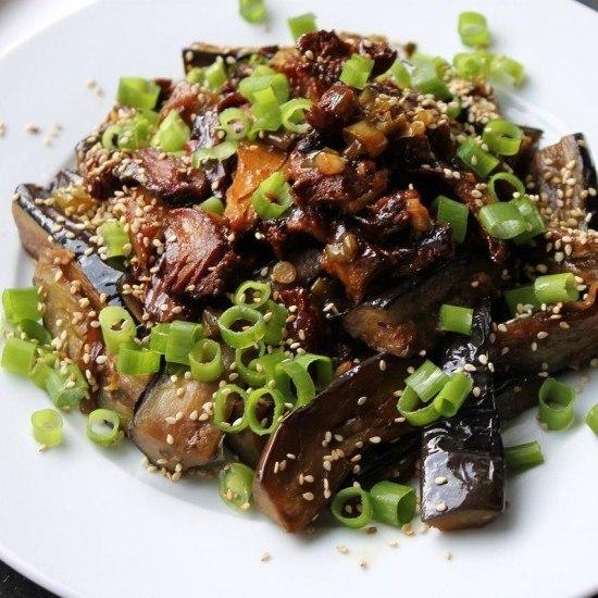 Rezept Auberginen Asia-Style und Teriyaki-Mock Duck